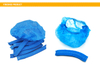 Automatic non woven bouffant head cover disposable PE plastic shower cap machine