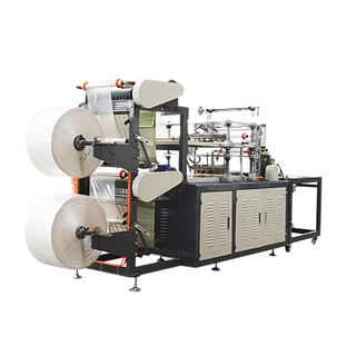 PE film disposable plastic gloves making machine